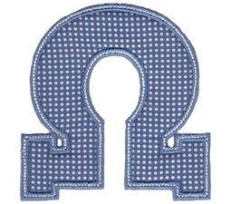 Sweet Greek Alphabet Applique 24