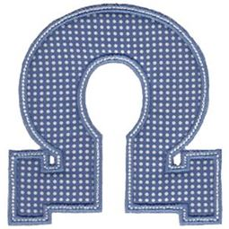 Sweet Greek Alphabet Applique 24