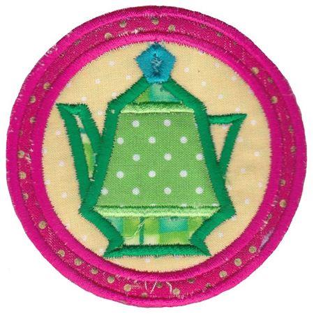 Green Teapot Coaster