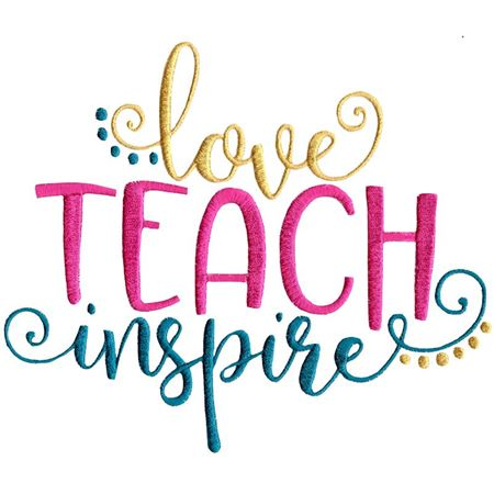 Love Teach Inspire - Bunnycup Embroidery