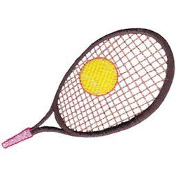 Single Racket With Tennis Ball
