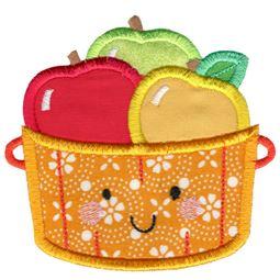 Applique Barrel Of Apples