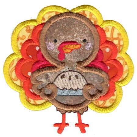 Pie and Turkey Applique
