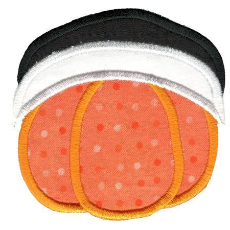 Slouchy Pilgrim Hat Pumpkin Applique