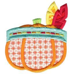 Indian Headdress Pumpkin Applique