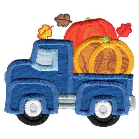Pumpkin Vintage Truck Applique