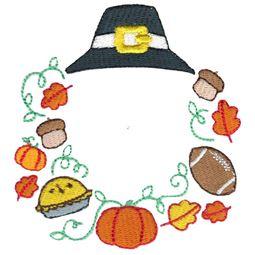 Thanksgiving Pilgrim Monogram Frame