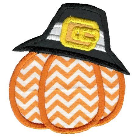 Pilgrim Pumpkin Applique
