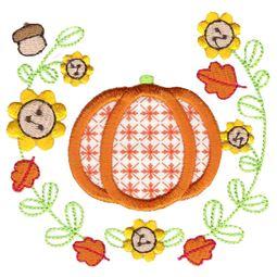 Laurel Pumpkin Applique