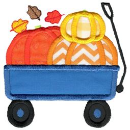 Pumpkin Wagon Applique
