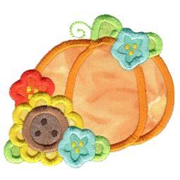 Floral Pumpkin Applique