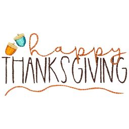 Happy Thanksgiving With Acorns