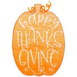 Happy Thanksgiving Pumpkin Sketch Design