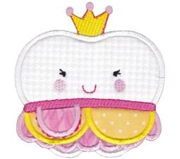 Princess Tooth Applique With Pocket