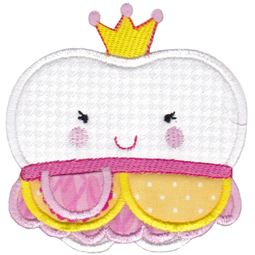 Princess Tooth Applique With Pocket