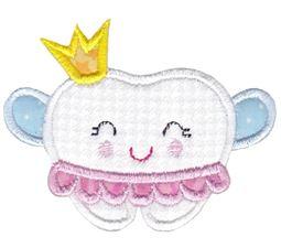 Princess Tooth Applique