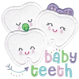 Baby Teeth Applique
