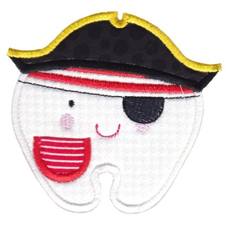 Pirate Tooth Applique With Pocket