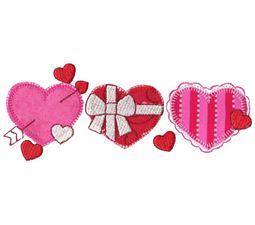 Hearts Trio Applique