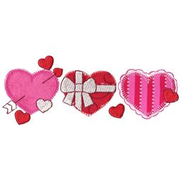 Hearts Trio Applique