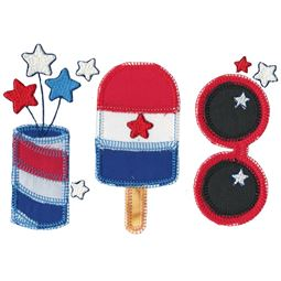 4th of July Trio Applique