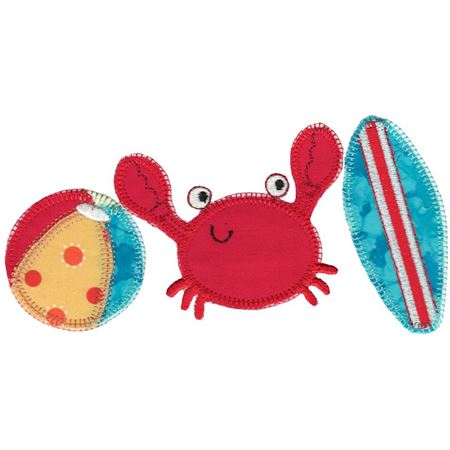 Beach Trio Applique