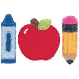 School Trio Applique
