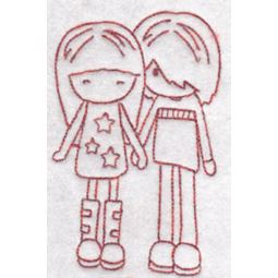 Tiny Teens Redwork 14