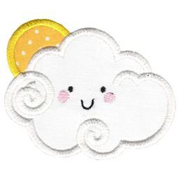 Applique Sun And Cloud