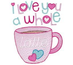 I Love You A Whole Latte Sketch