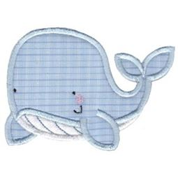 Applique Swimming Whale