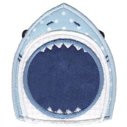 Applique Shark Mouth Monogram Frame