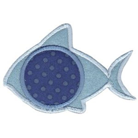 Applique Shark Monogram Frame