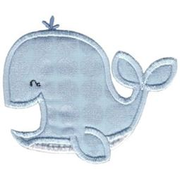Applique Laughing Whale