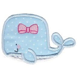 Applique Girl Whale