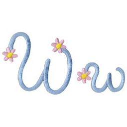 A Daisy Day Alphabet W