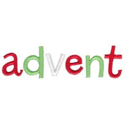 Advent Word Art