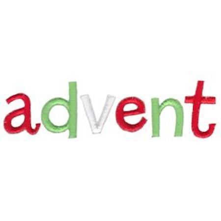 Advent Word Art