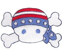 Patriotic Skull and Crossbones