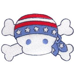 Patriotic Skull and Crossbones