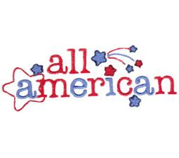 All American Word Art