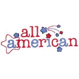 All American Word Art