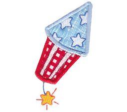 Patriotic Firecracker Applique