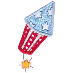 Patriotic Firecracker Applique