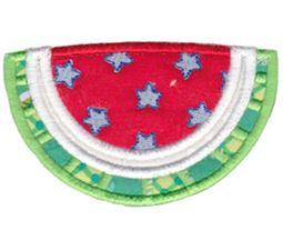 Patriotic Watermelon Applique