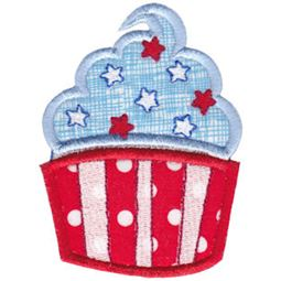 Patriotic Cupcake Applique