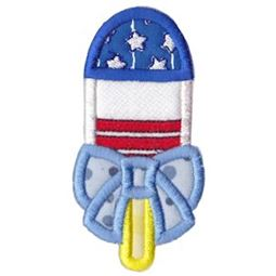 Patriotic Popsicle With Bow Applique