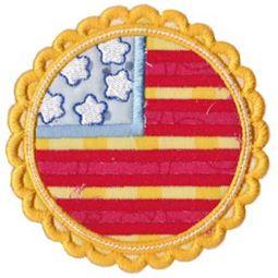 American Flag Badge Applique
