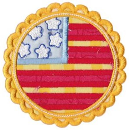 American Flag Badge Applique