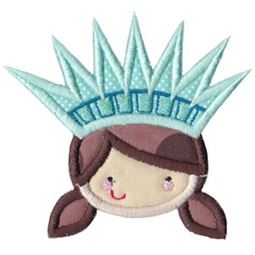 Statue of Liberty Girl Applique